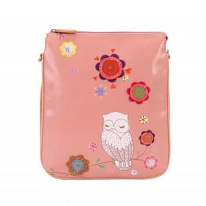 Vendula - Snowy Owl - Crossbody Torba- Różowa