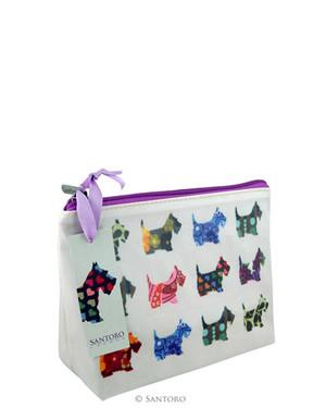 Kosmetická taška  (malá) Santoro - Scottie Dogs
