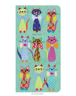 Santoro London - Cats With Bowties - Diář 2015 (slim)