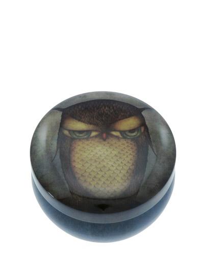 Santoro London - Kualtá Dekorativní krabička - Grumpy Owl