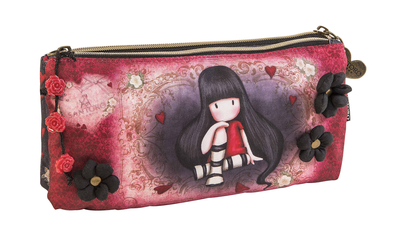 Santoro London - Pouzdro/Kosmetická taška - Gorjuss - The Collector 2 Červená, černá;Červená, černá