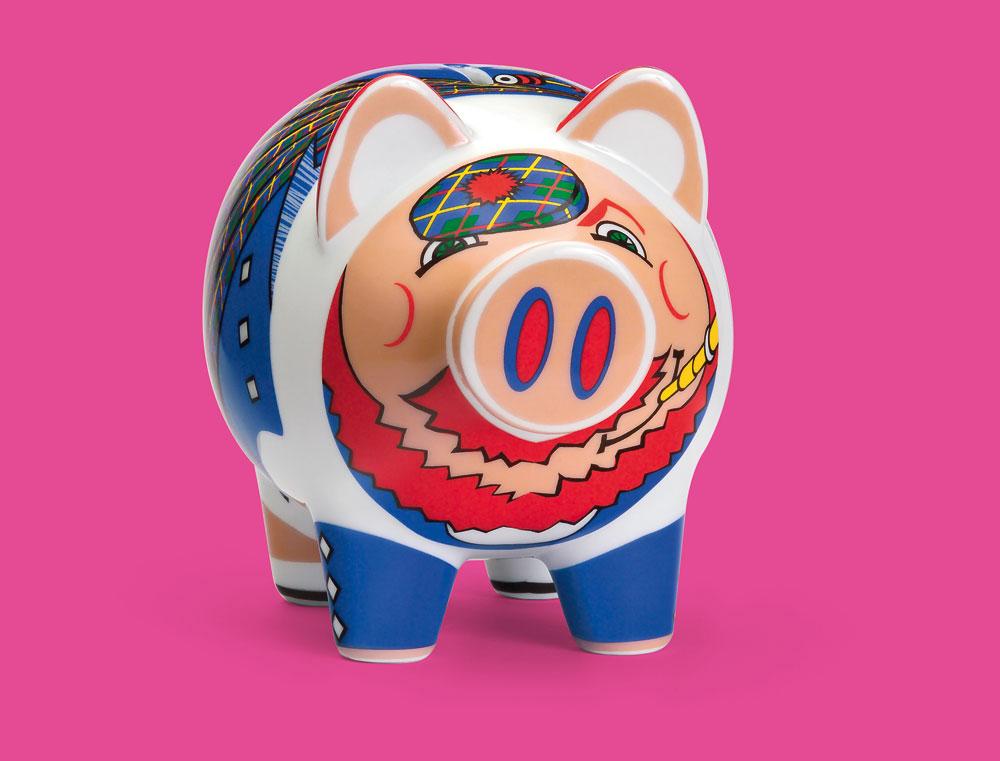 Ritzenhoff - Kasička porcelánová (Prasátko) - Piggy bank - Tim Davies 07