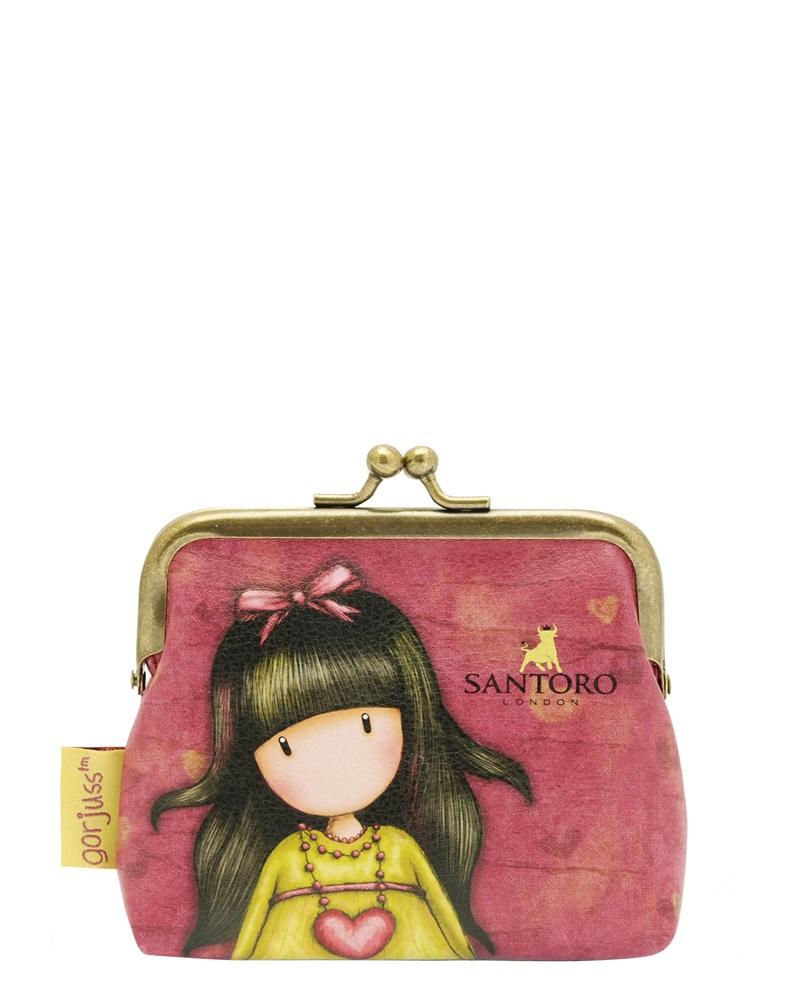 Santoro London - Peněženka se sponou (malá) - Gorjuss - Heartfelt Vínová, růžová, žlutá;Vínová, růžová, žlutá