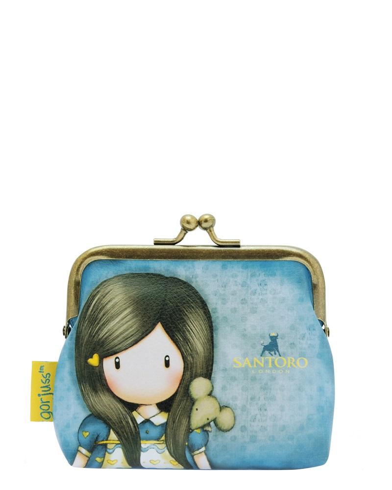Santoro London - Peněženka se sponou (malá) - Gorjuss - Little Friend Modrá;Modrá