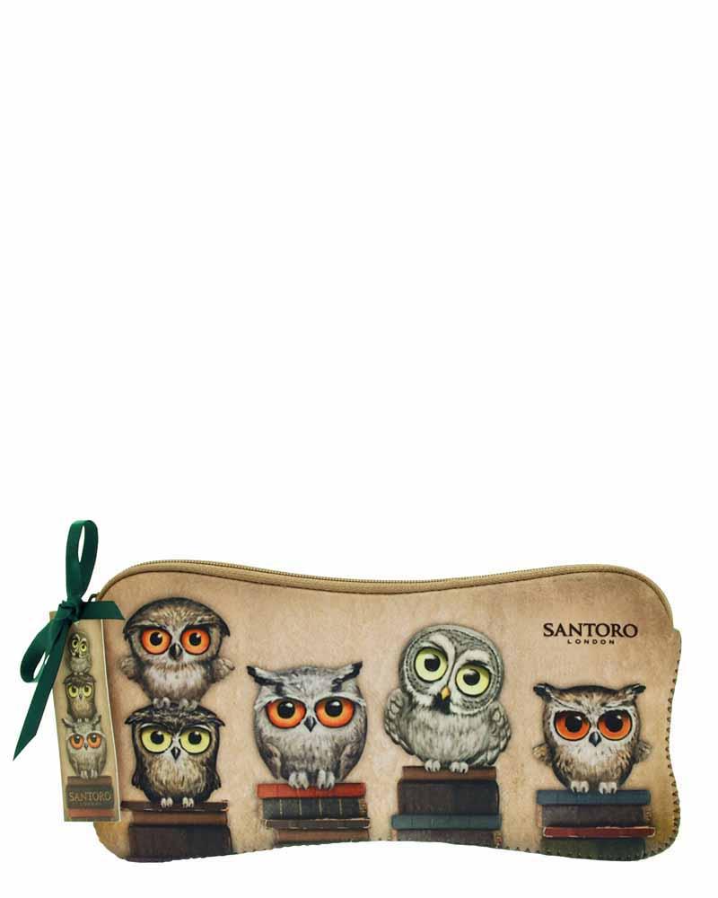 Santoro London - Neoprenový penál - Book Owls - PERIPETIE.cz 1f0426fed89