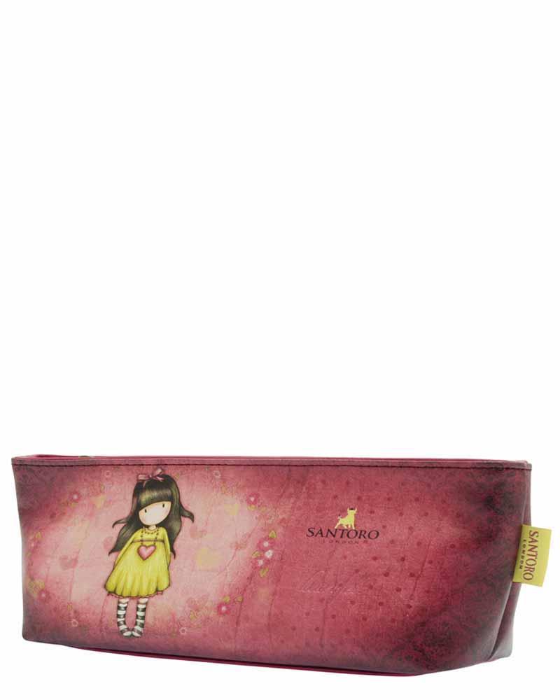 Santoro London - Pouzdro/Kosmetická taška - Gorjuss - Heartfelt Vínová, růžová, žlutá;Vínová, růžová, žlutá