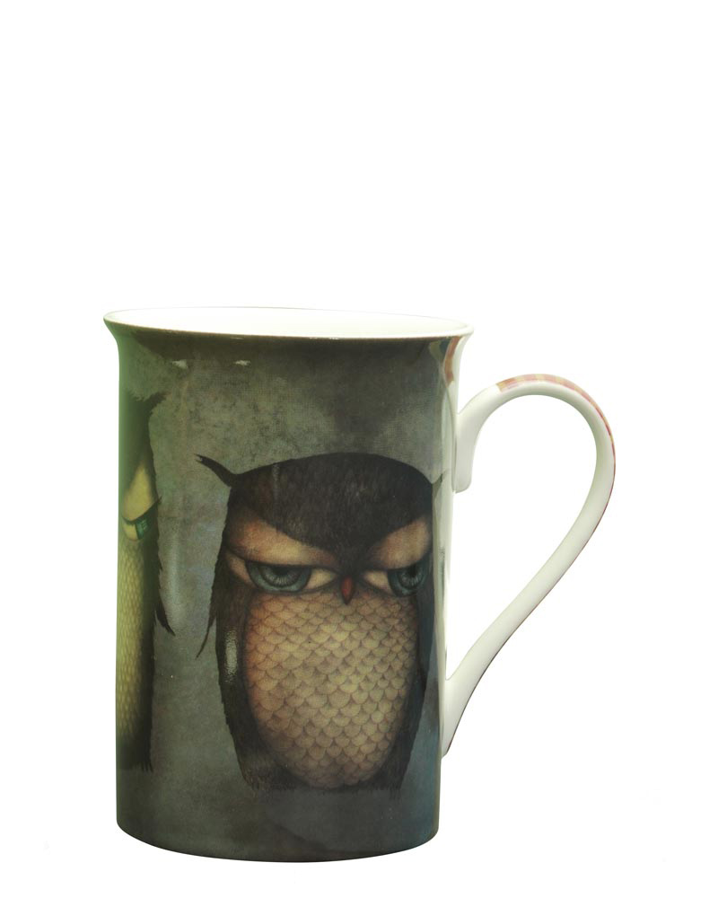 Santoro London - Hrneček 250ml - Grumpy Owl