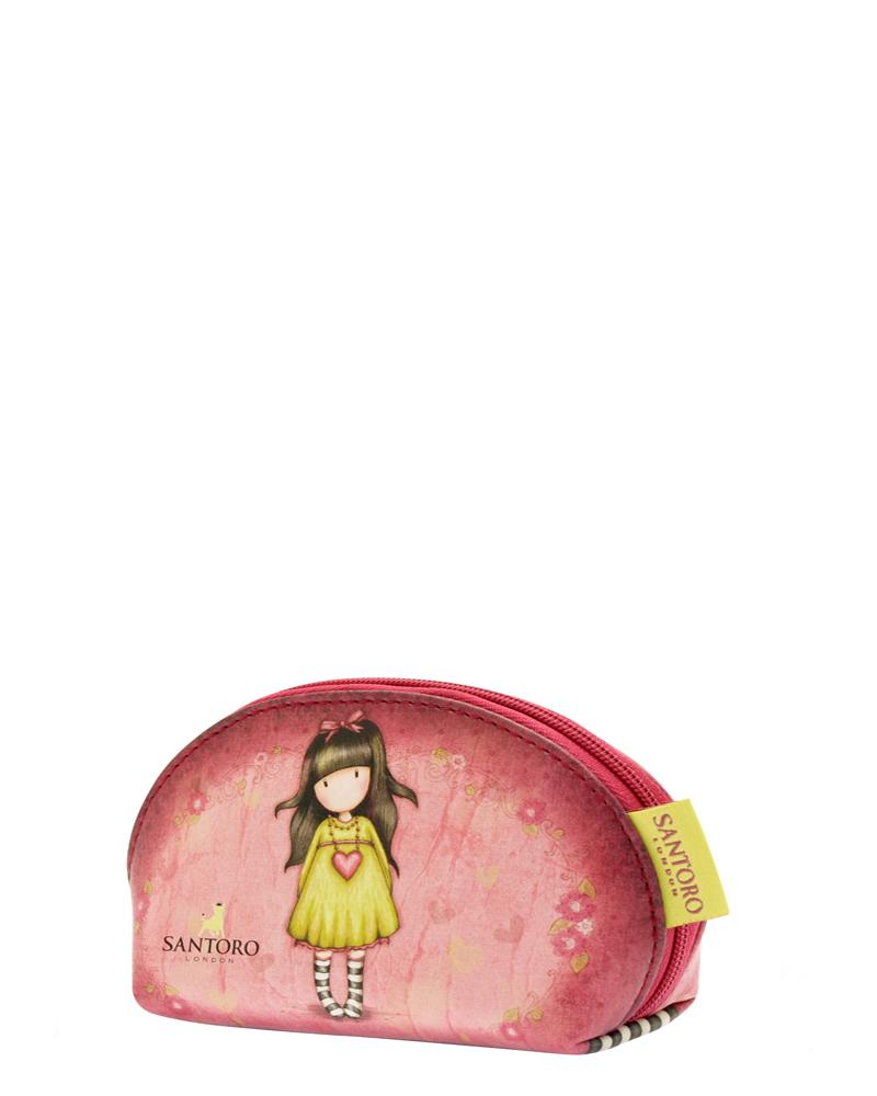 Santoro London - Kosmetická taška (malá) - Gorjuss - Heartfelt Vínová, růžová, žlutá;Vínová, růžová, žlutá