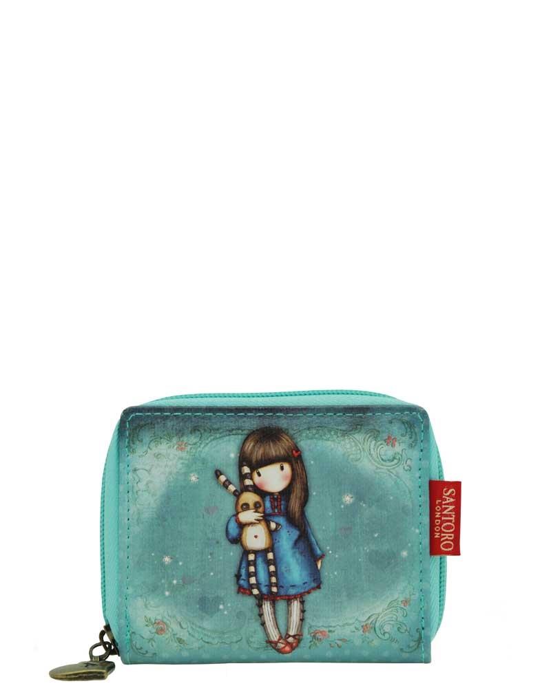 Santoro London - Peněženka na zip (malá) - Gorjuss - Hush Little Bunny Modrá;Modrá