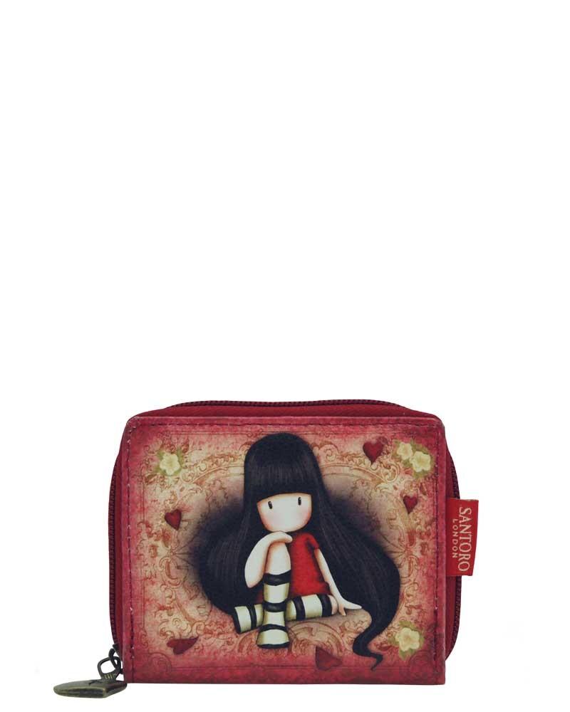Santoro London - Peněženka na zip (malá) - Gorjuss - The Collector Červeno-hnědá;Červeno-hnědá