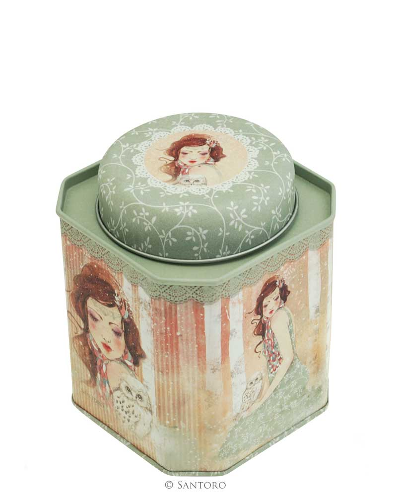 Santoro London - Plechová krabička - Willow - Mademoiselle Snow