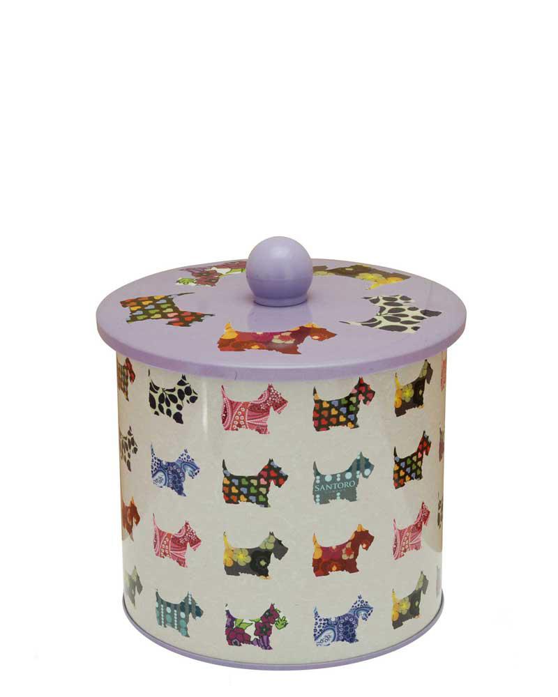 Santoro London - Plechová krabička sušenky - Scottie Dogs Bílá;Bílá
