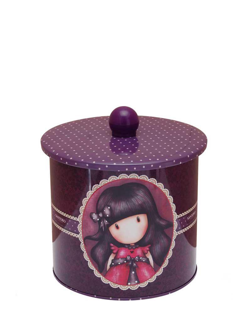 Santoro London - Plechová krabička sušenky - Gorjuss - Ladybird Vínová;Vínová