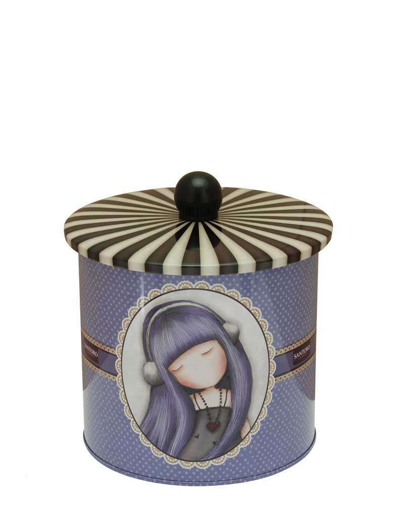 Santoro London - Plechová krabička sušenky - Gorjuss - Dear Alice Fialová;Fialová