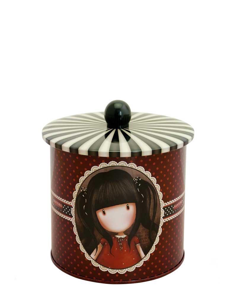 Santoro London - Plechová krabička sušenky - Gorjuss - Ruby Vínová;Vínová