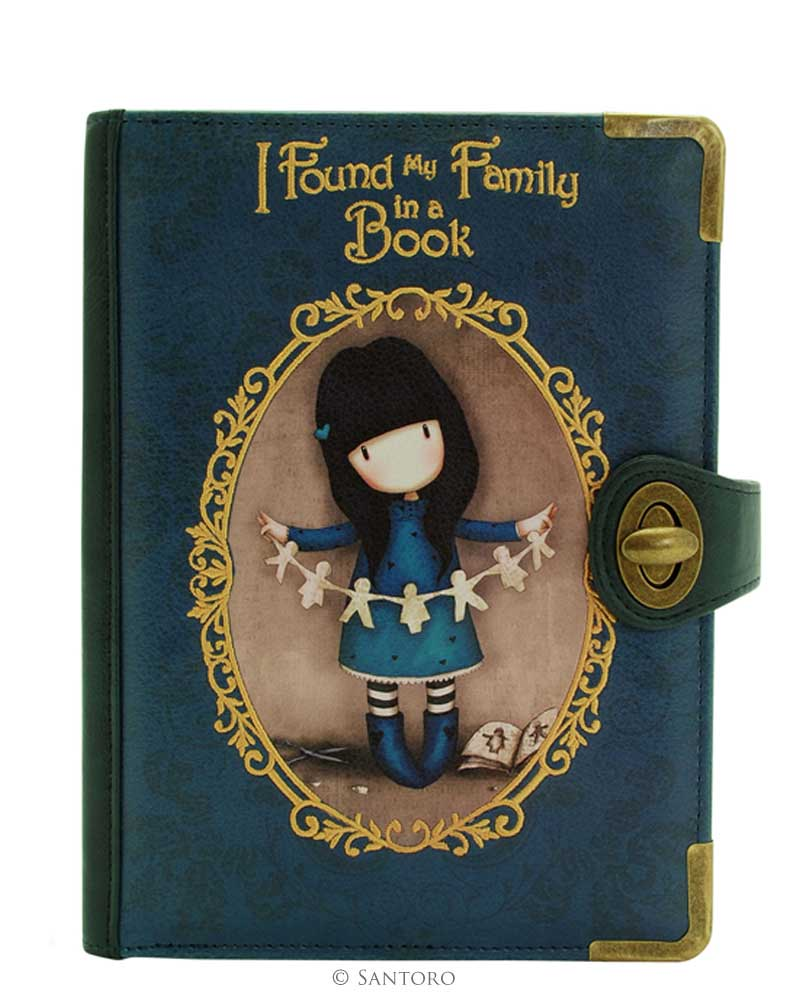 Santoro London - Psaníčko - Gorjuss Chronicles - I Found my Family in a Book Modrá;Modrá