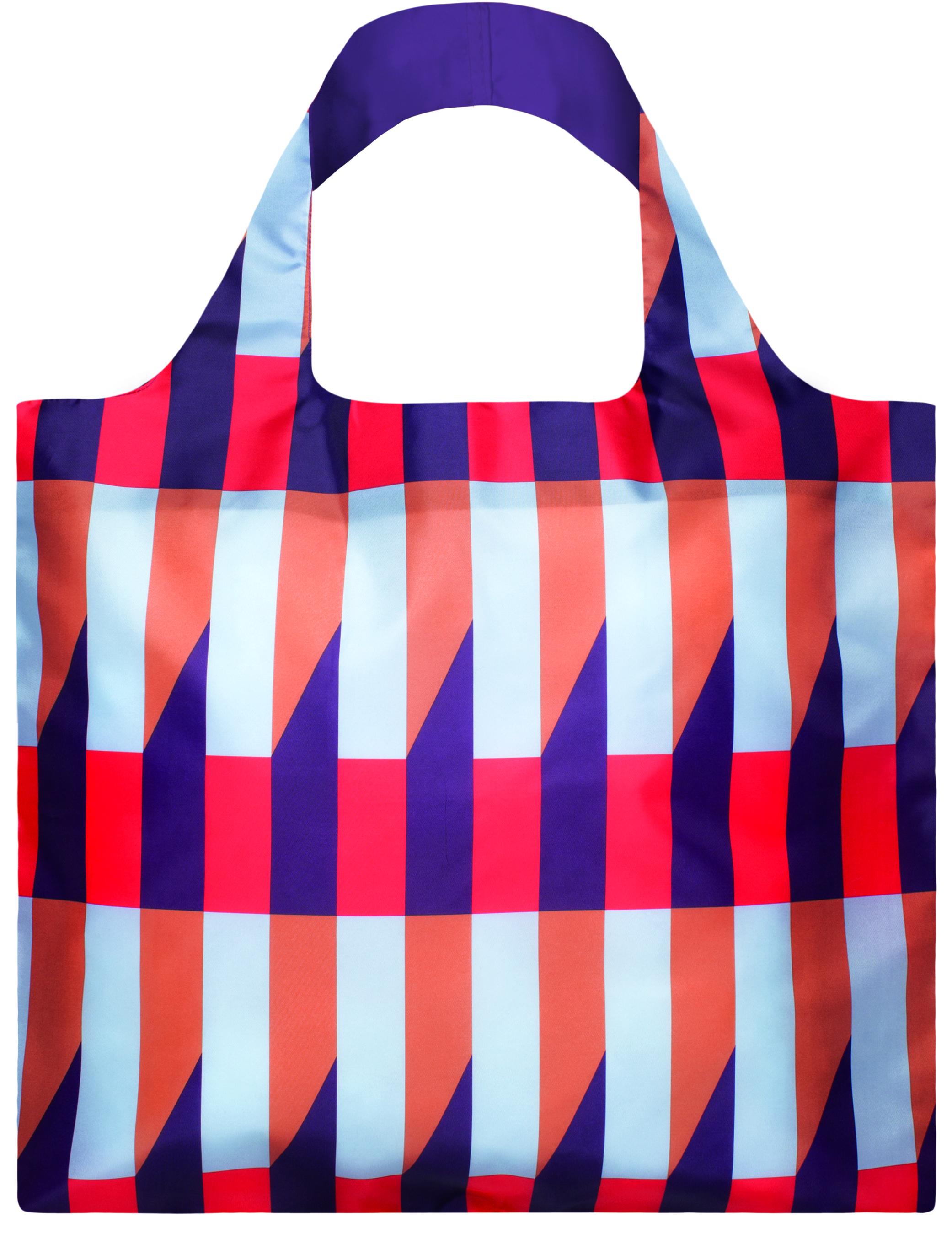 LOQI - Skládací Nákupní Taška - Geometric - Stripes