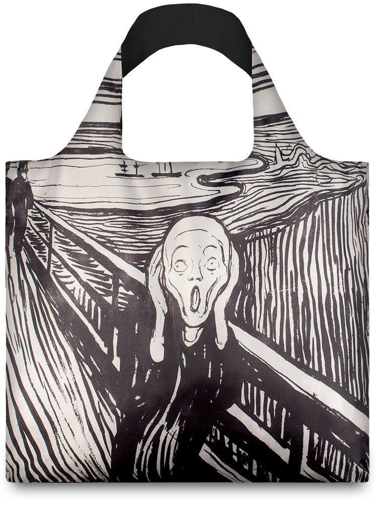 LOQI - Skládací Nákupní Taška - Museum - The Scream