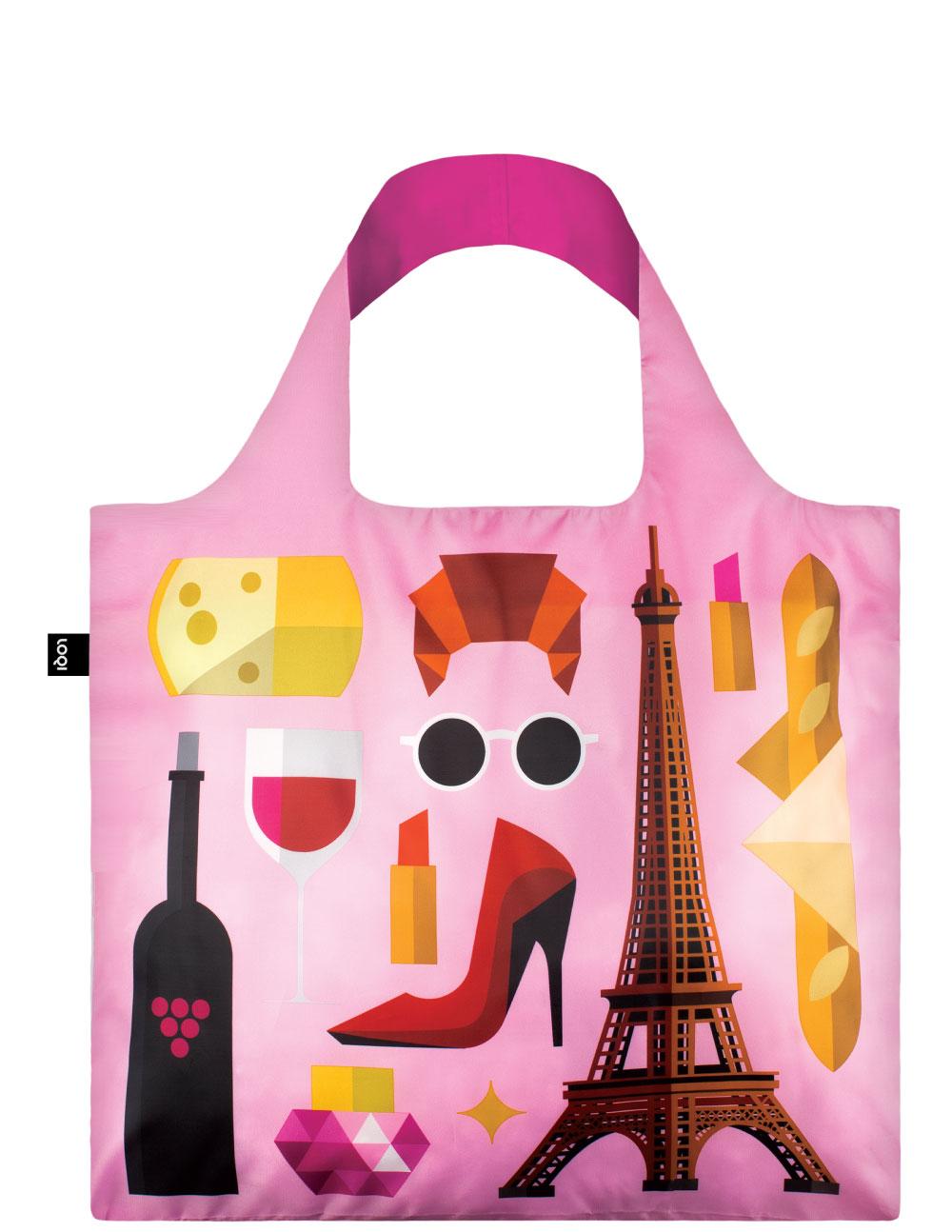 LOQI - Skládací Nákupní Taška - Hey - Paris