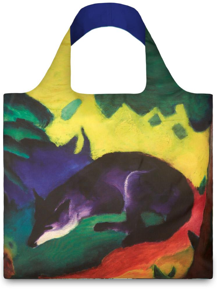 LOQI - Skládací Nákupní Taška - Museum - Blue Fox