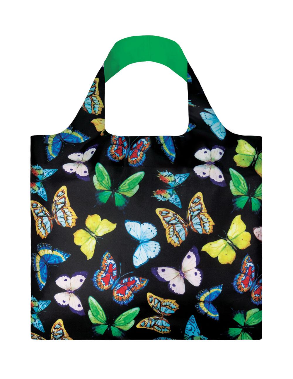 LOQI - Skládací Nákupní Taška - Wild - Butterflies