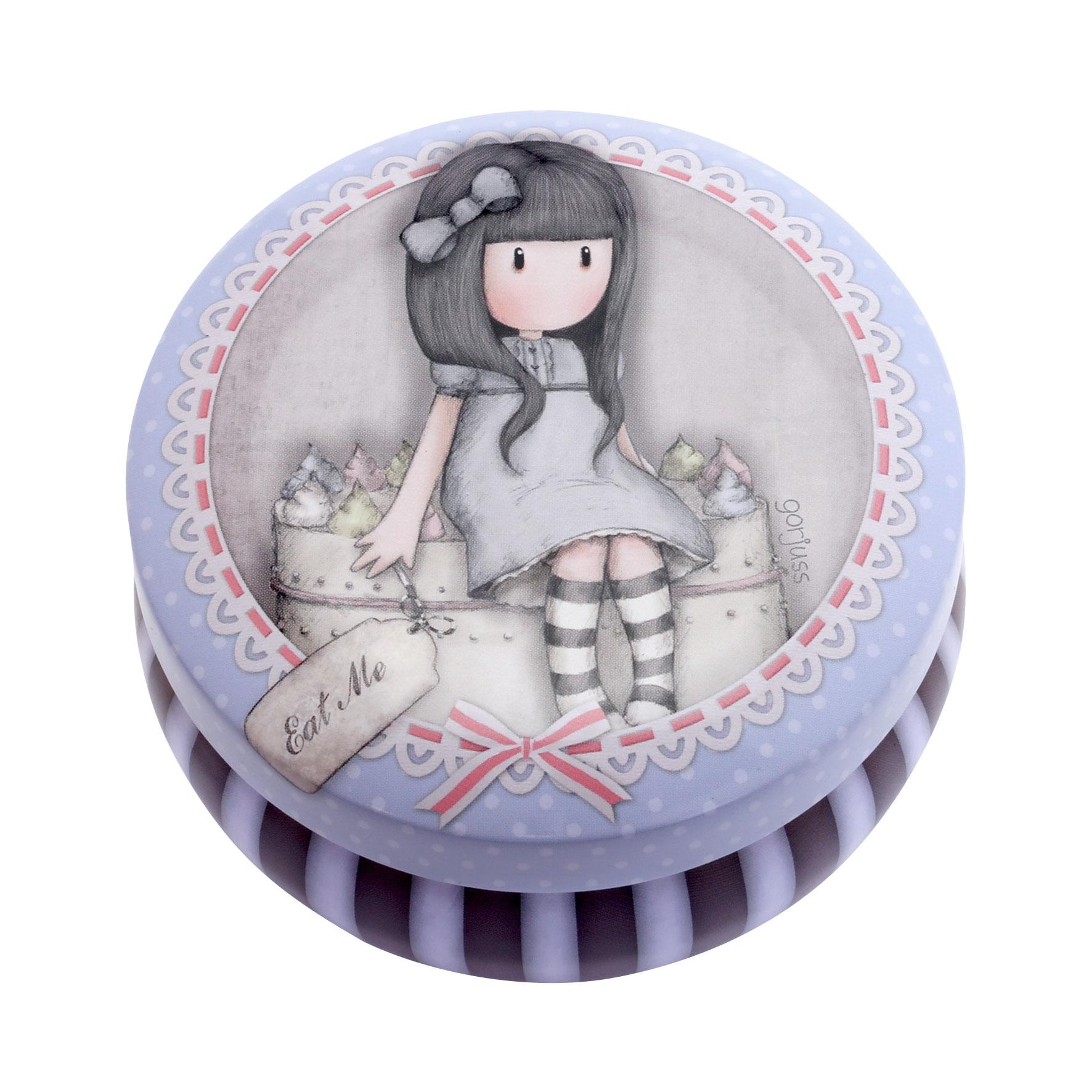Santoro London - Kulatá Dekorativní krabička - Gorjuss - Sweet Cake