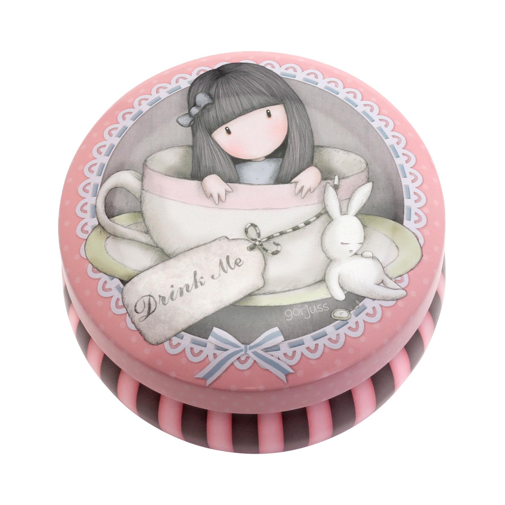Santoro London - Kulatá Dekorativní krabička - Gorjuss - Sweet Tea