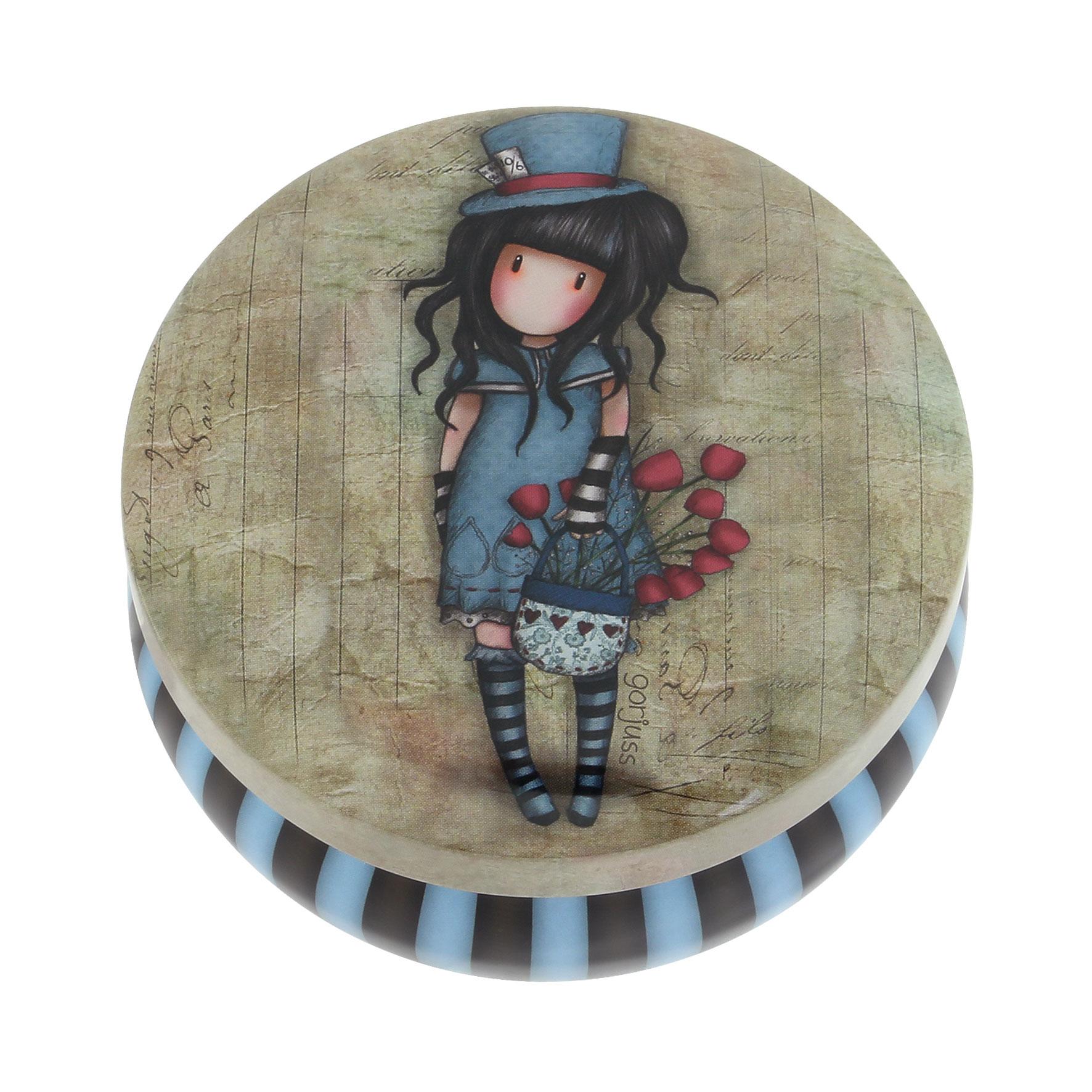 Santoro London - Kulatá Dekorativní krabička - Gorjuss - The Hatter