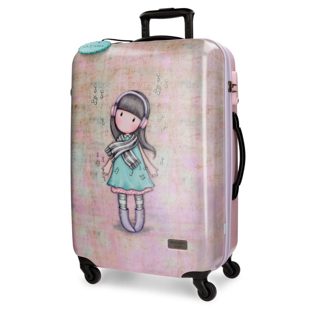 Santoro London - Cestovní kufr na kolečkách 64l - Gorjuss - Lost In Music - 45x67x26 cm
