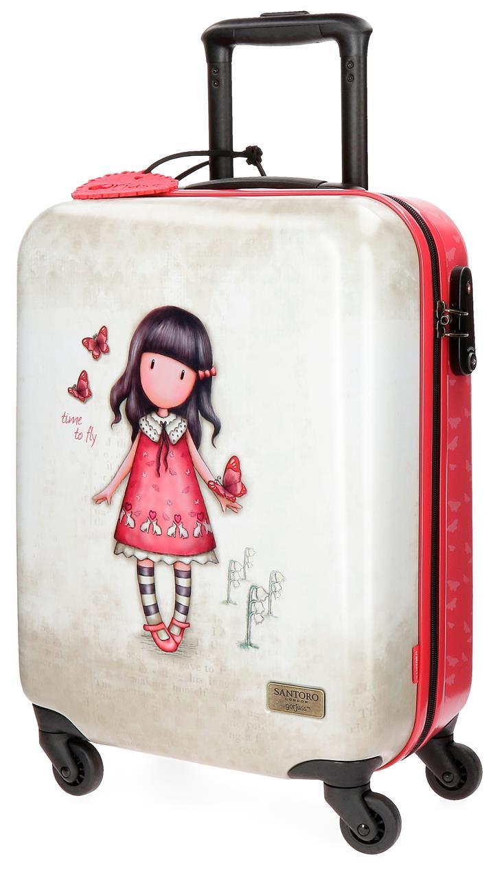 Santoro London - Cestovní kufr na kolečkách 33l- Gorjuss - Time To Fly - 37x55x20 cm