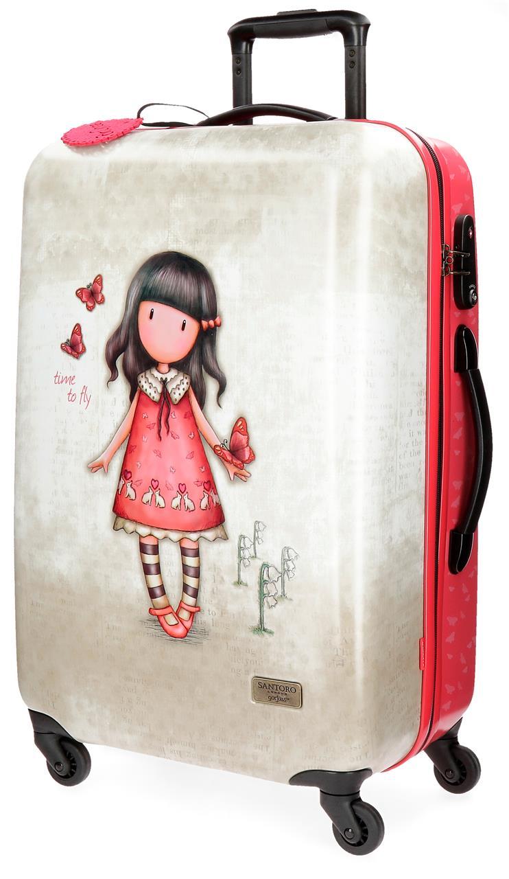 Santoro London - Cestovní kufr na kolečkách 64l - Gorjuss - Time To Fly - 45x67x26 cm