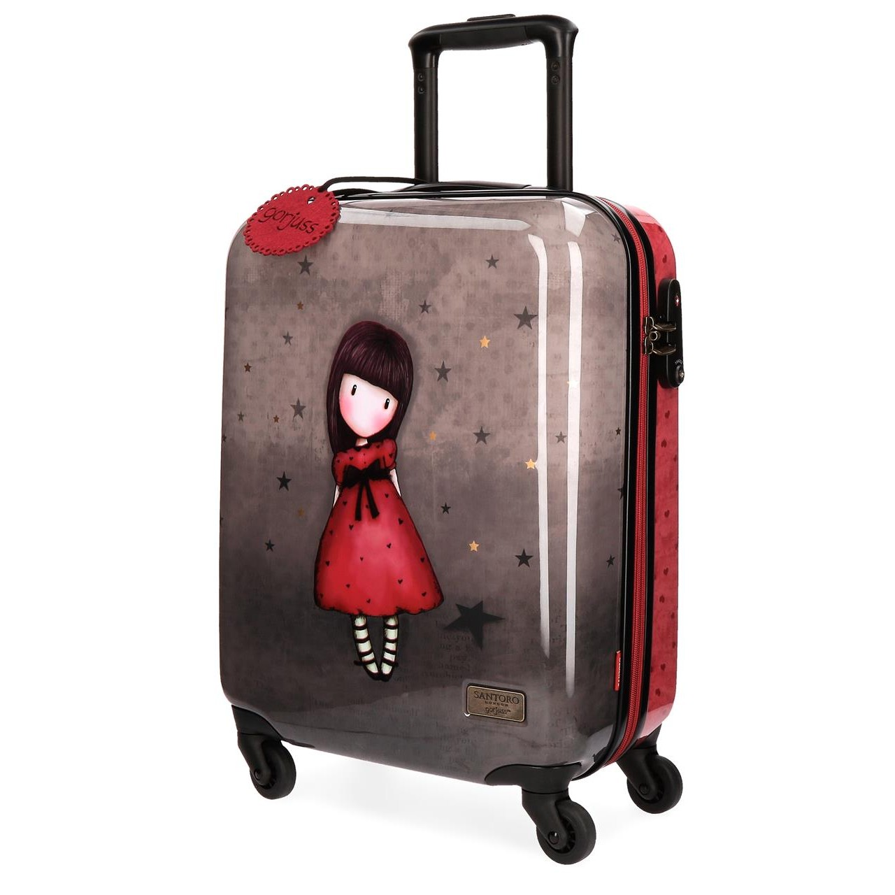 Santoro London - Cestovní kufr na kolečkách 33l- Gorjuss - Black Star - 37x55x20 cm
