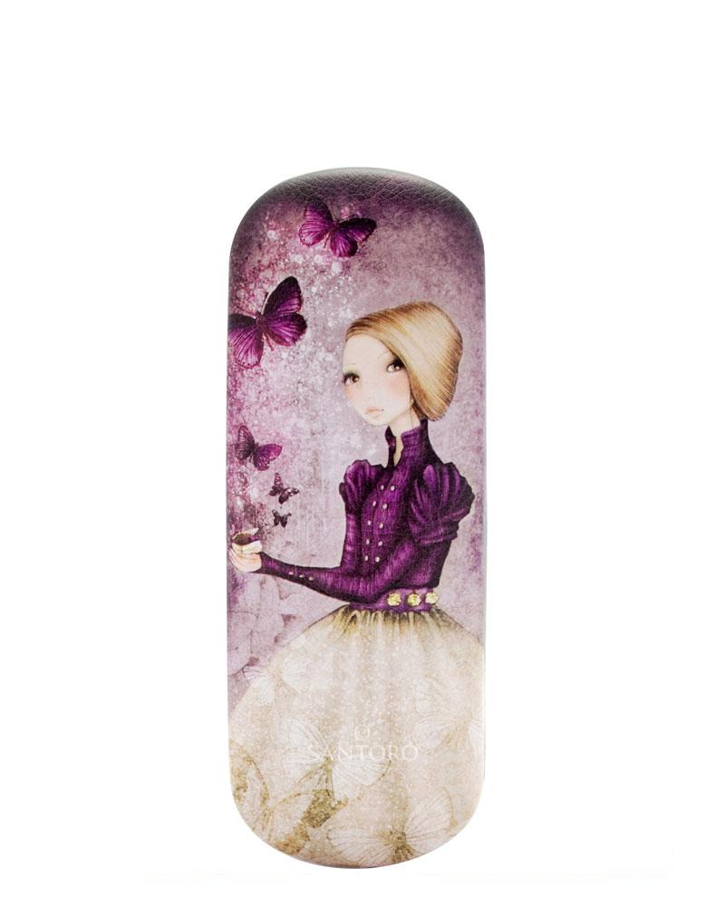 Santoro London - Pouzdro na brýle - Mirabelle - Amethyst Butterfly Pastelově růžová;Pastelově růžová