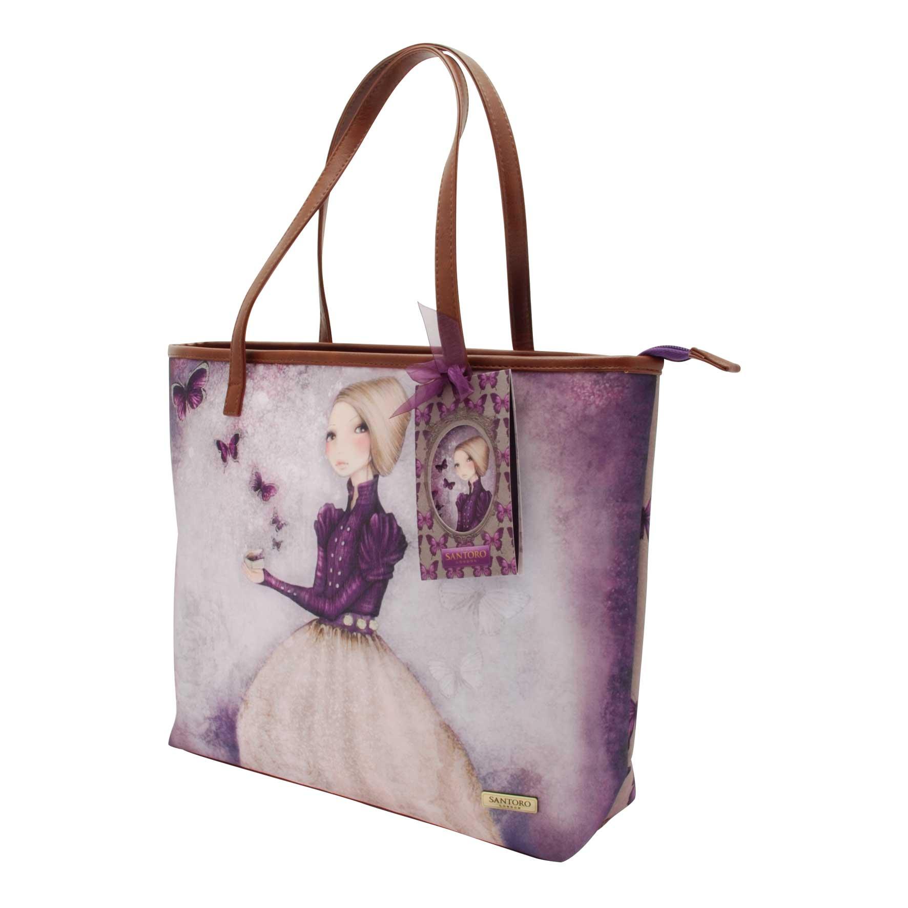 94d522b02e ... Santoro London - Velká Nákupní taška - Mirabelle - Amethyst Butterfly.  ‹ ›
