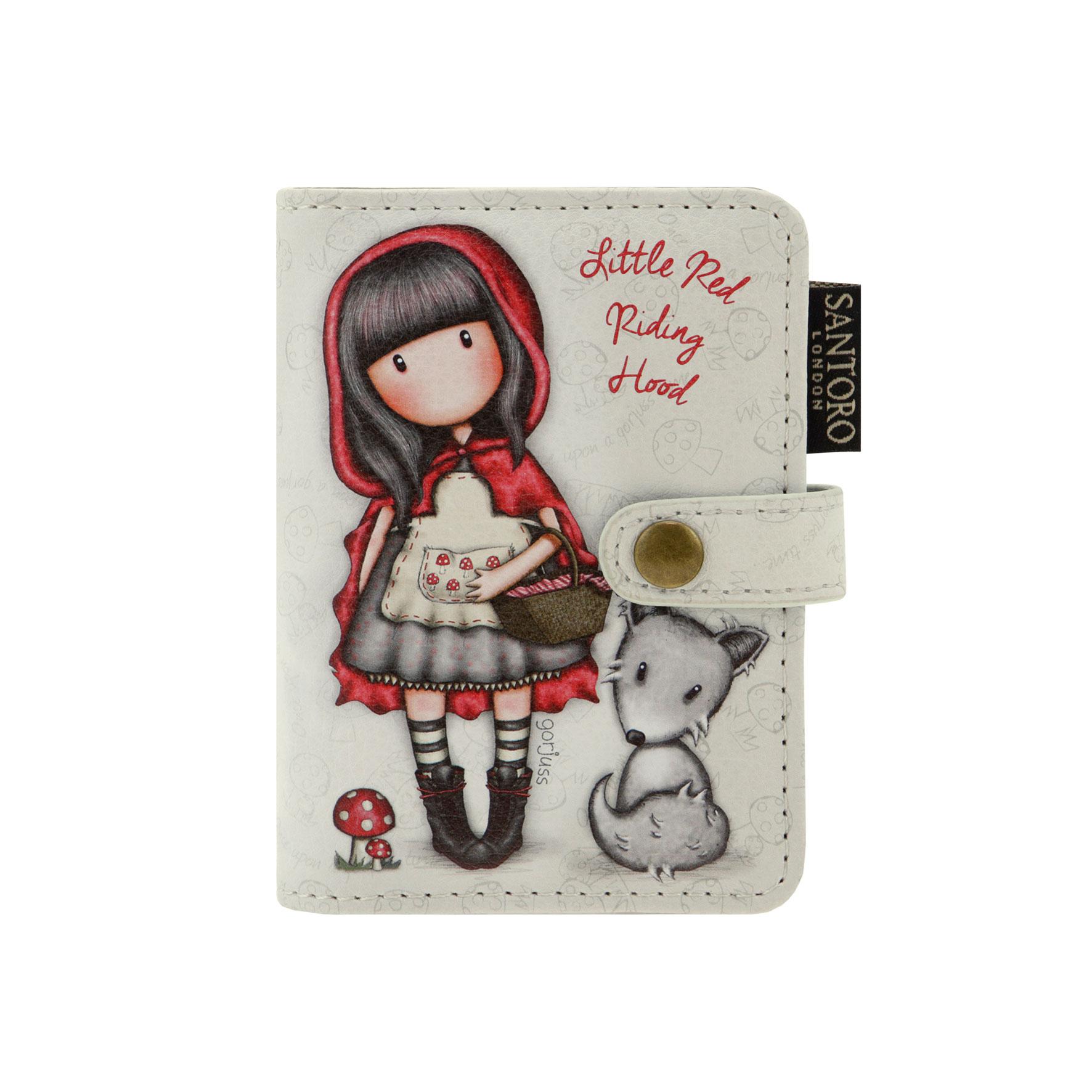 Santoro London - Pouzdro na karty - Gorjuss - Little Red Riding Hood Vínová, šedá, černá;Vínová, šedá, černá