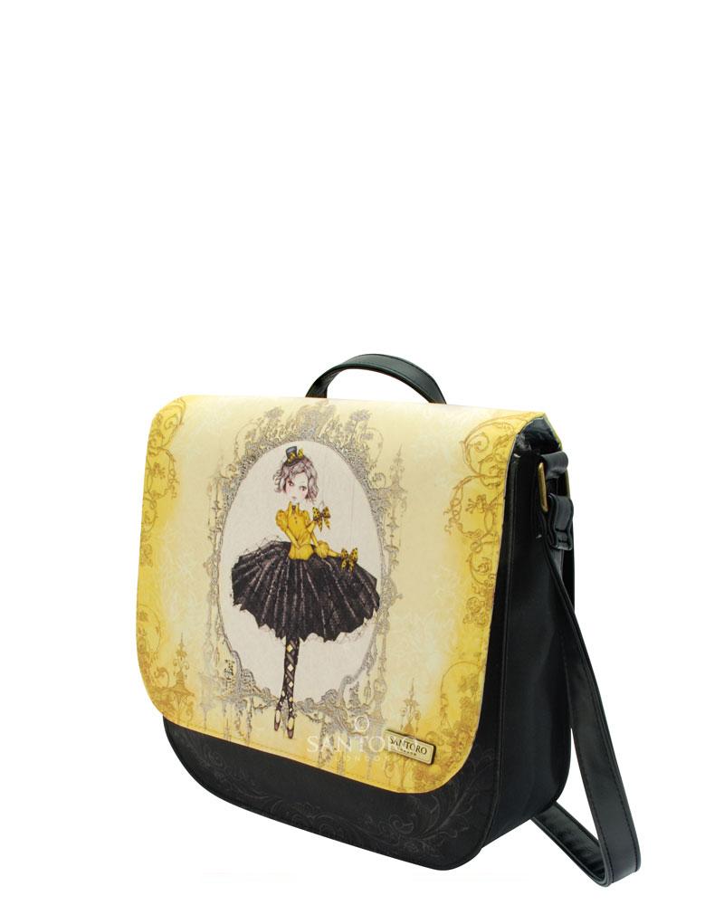Santoro London - Taška přes Rameno - Mirabelle - Marionette Černá, žlutá, béžová;Černá, žlutá, béžová