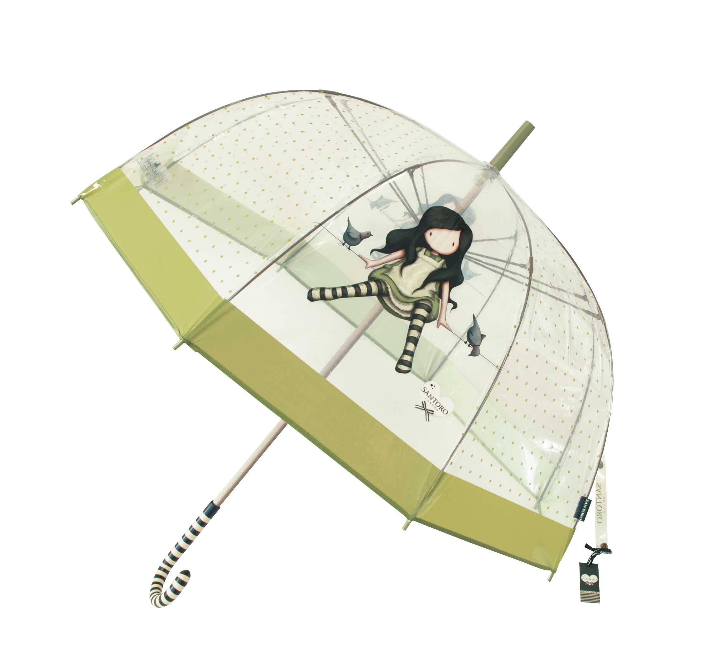Santoro London - Průhledný Deštník (velký) - Gorjuss - On Top Of The World