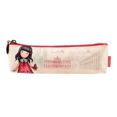 Santoro London - Pouzdro/Kosmetická taška - Gorjuss Cityscape - Time to Fly Červená, krémová;Červená, krémová