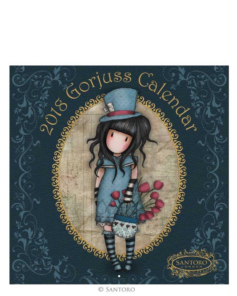 Santoro London - Nástěnný kalendář 2018 - Gorjuss - The Hatter