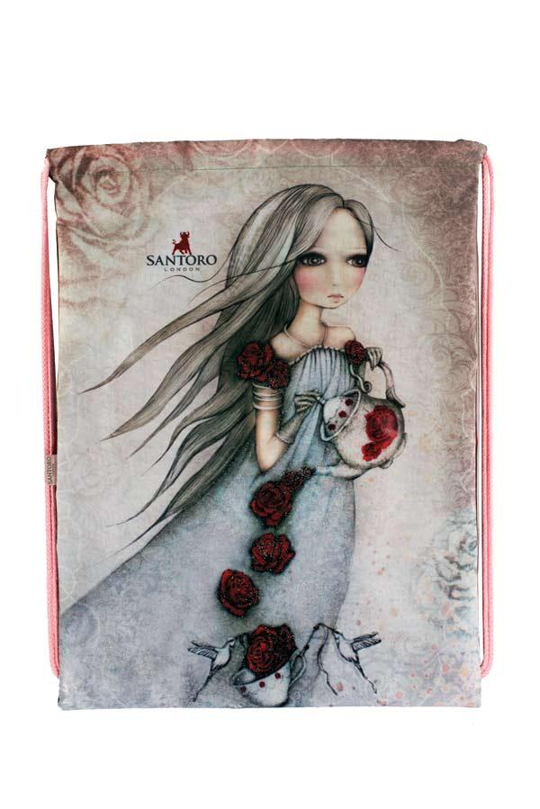 Santoro London - Sáček na přezůvky - Mirabelle - Rose Tea