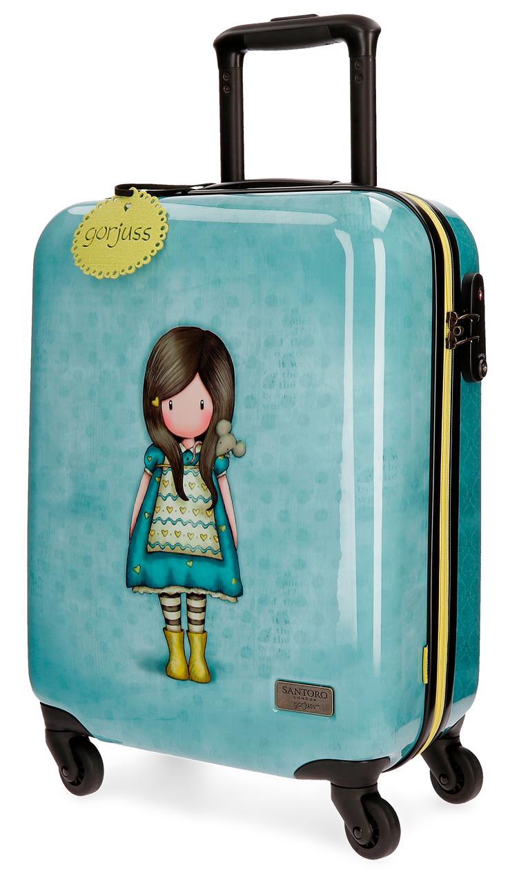 Santoro London - Cestovní kufr na kolečkách 33l- Gorjuss - Little Friend - 37x55x20 cm