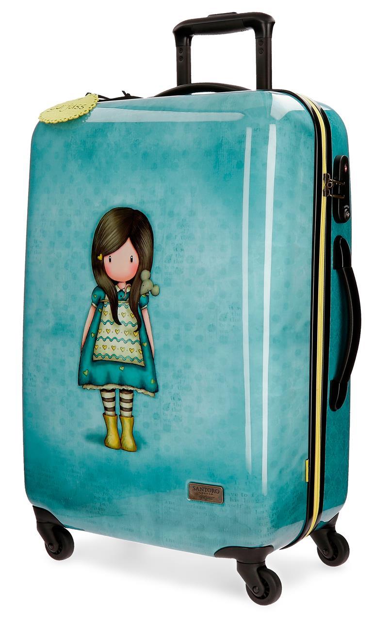Santoro London - Cestovní kufr na kolečkách 64l - Gorjuss - Little Friend - 45x67x26 cm