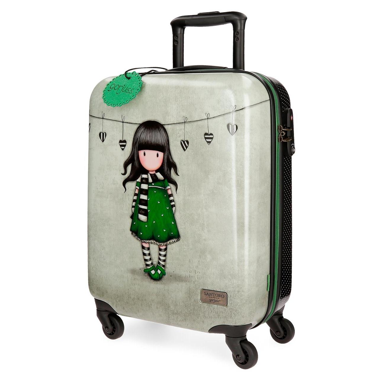 Santoro London - Cestovní kufr na kolečkách 33l- Gorjuss - The Scarf - 37x55x20 cm