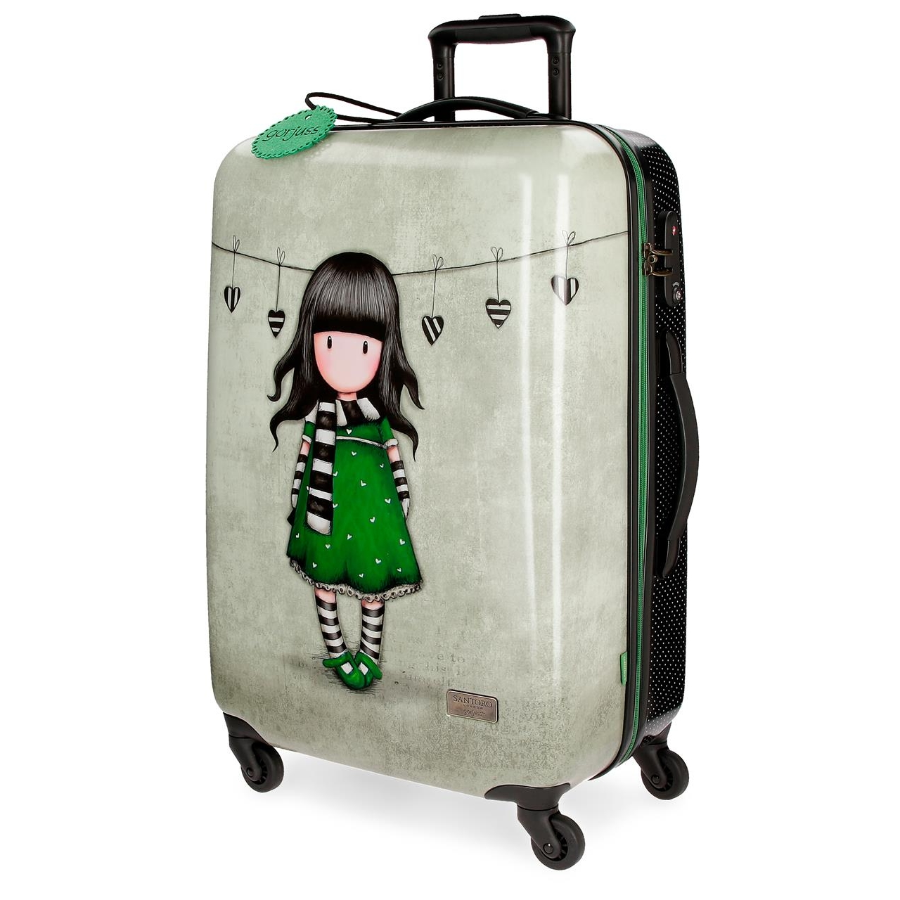 Santoro London - Cestovní kufr na kolečkách 64l - Gorjuss - The Scarf - 45x67x26 cm