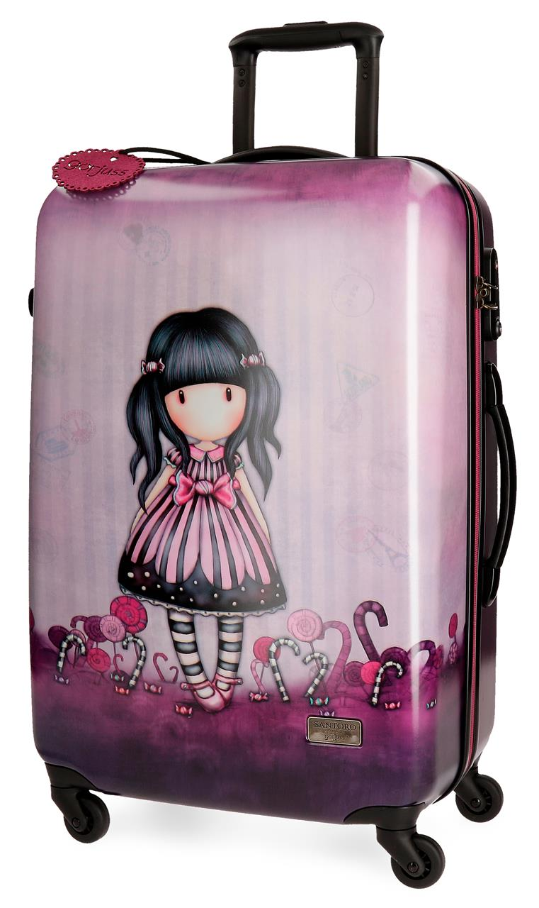 Santoro London - Cestovní kufr na kolečkách 64l - Gorjuss - Sugar and Spice - 45x67x26 cm