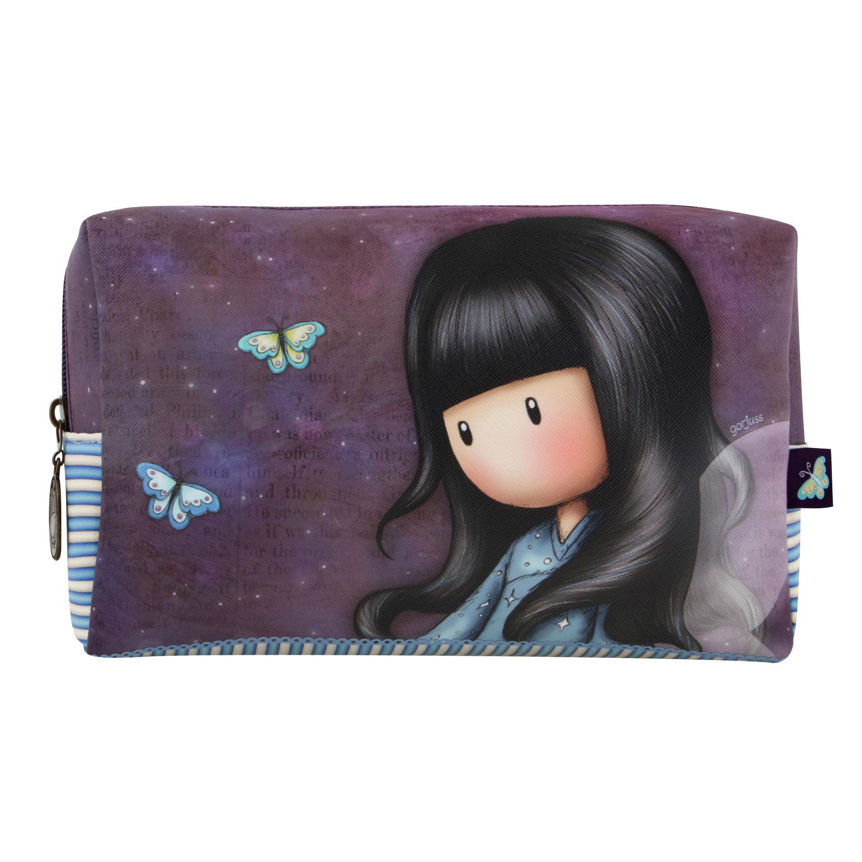 Santoro London - Kosmetická taška (velká) - Gorjuss - Bubble Fairy Fialová, modrá, černá