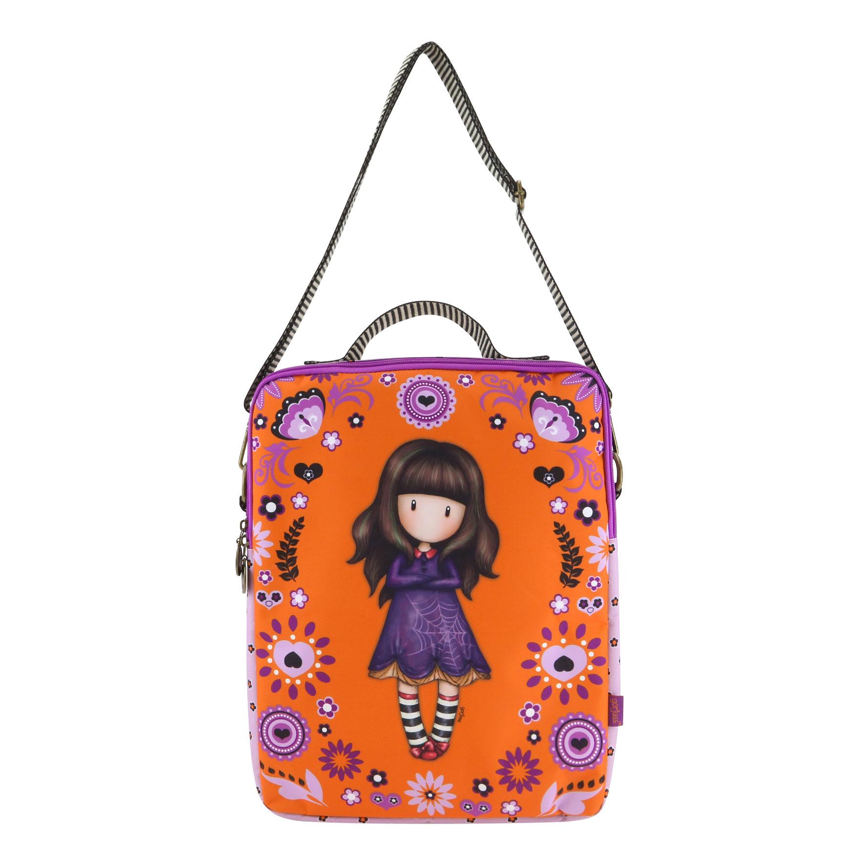 113d1cbc5f Santoro London - Taška na notebook - Gorjuss Fiesta - Cobwebs oranžová