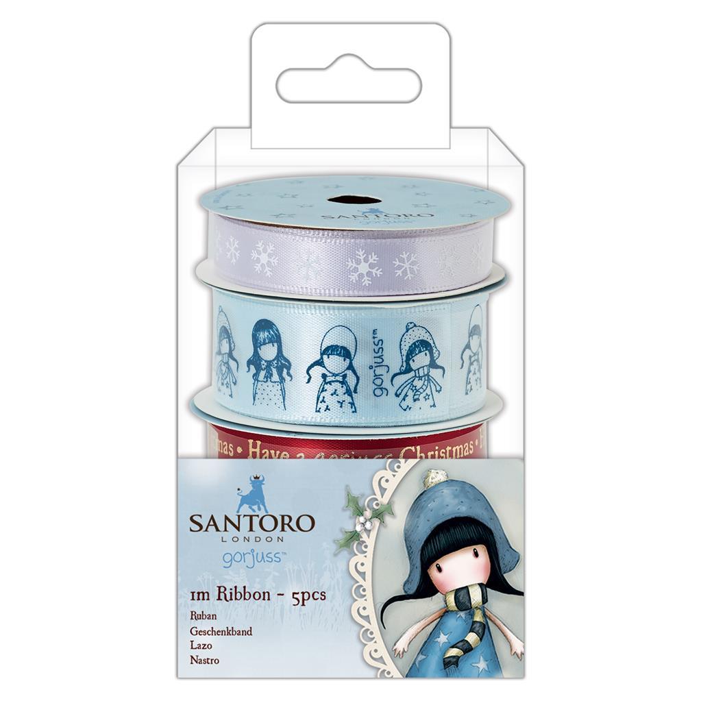 Santoro London - Set 5 Kreativních Stuh - Gorjuss - Vánoční kolekce